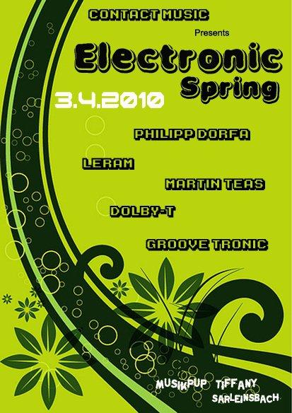 coming up | electronic spring @ tiffany, sarleinsbach